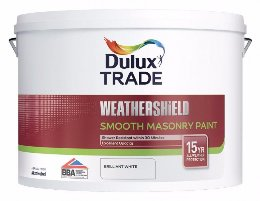 Dulux Trade Weathershield Smooth Masonry Paint Λευκό